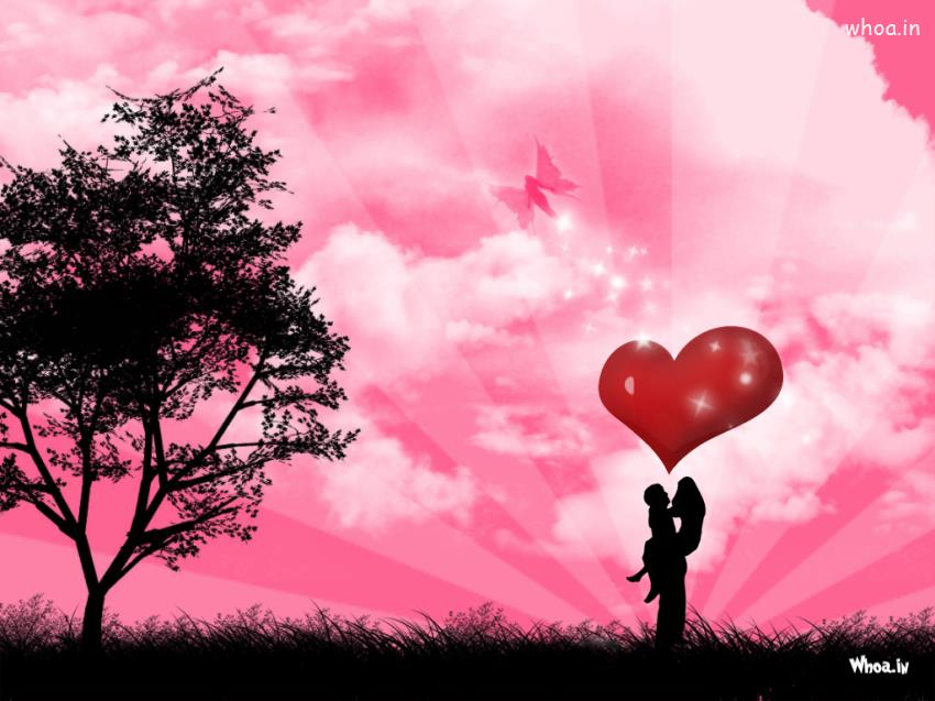 Bollywood Cute Couple Hd Wallpaper Pink Background With Beautiful Love Couple