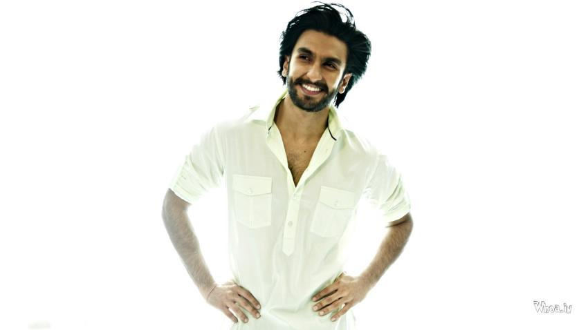 Cute Child Couple Wallpaper Hd Ranveer Singh White Shirt With White Background Hd Wallpaper