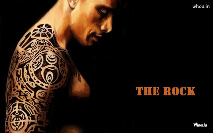 Motivational Wallpapers Hd The Rock Showing Tattoo In Hand Wallpaper