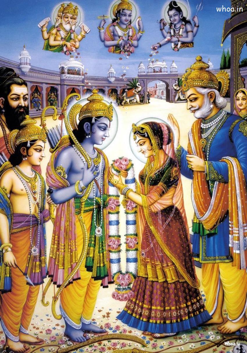 Ramayana 3d Wallpaper Wedding Of Lord Ram And Seeta