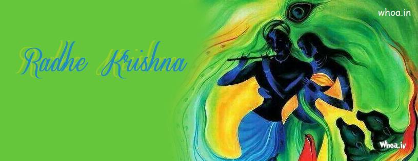Cute Bal Ganesh Wallpaper Radhe Krishna Art Fb Cover With Green Background