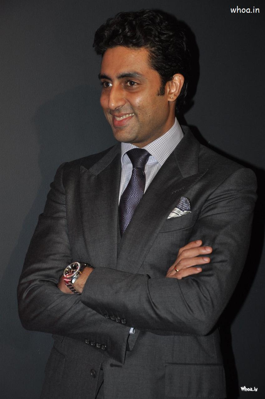 Cute Wallpapers Quotes Friendship Abhishek Bachchan Smiley Face With Black Suit Hd Images