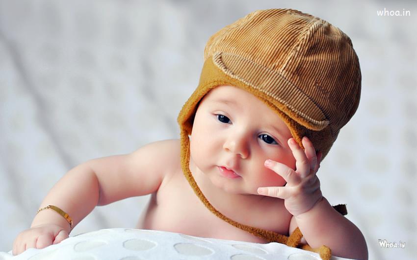 cute little sad baby
