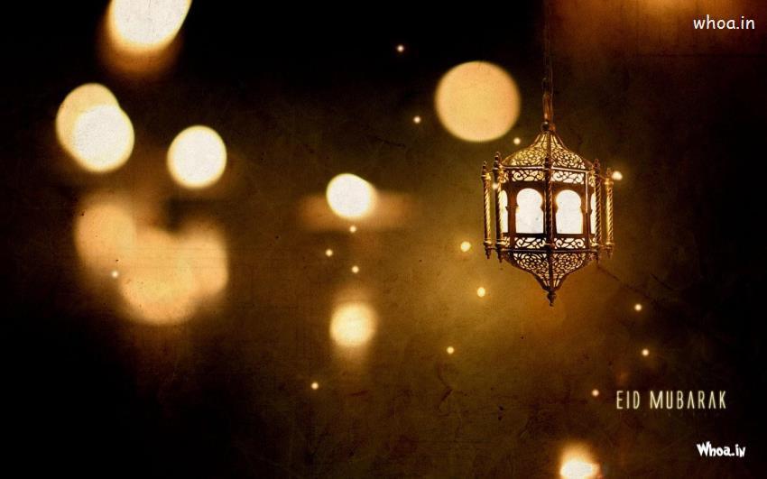 Islamic Cute Baby Wallpaper Eid Mubarak With Lighting And Joy Hd Wallpaper