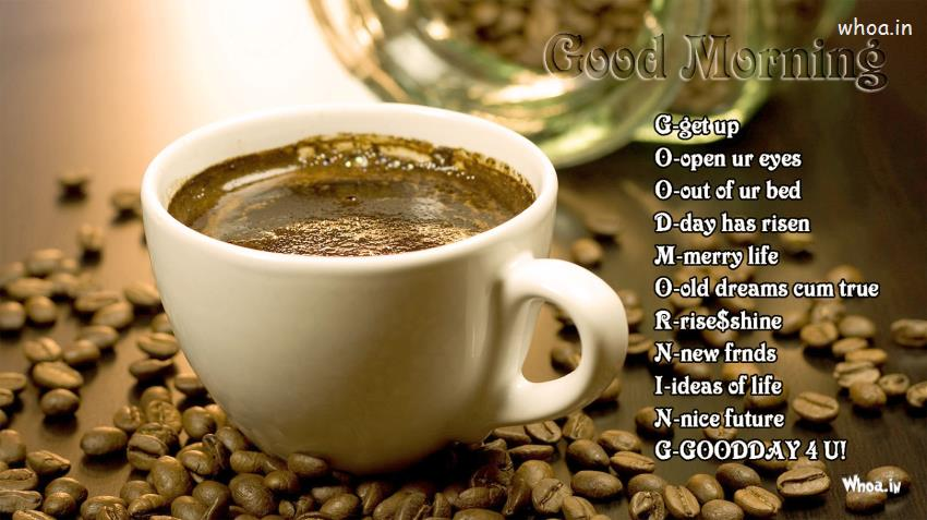Cute Baby Gud Morning Wallpaper Good Morning And Cup Of Coffee With Good Morning Quotes