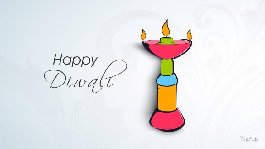 Happy Diwali Wallpaper Quotes In Hindi Happy Diwali With Diya Clipart Hd Wallpaper