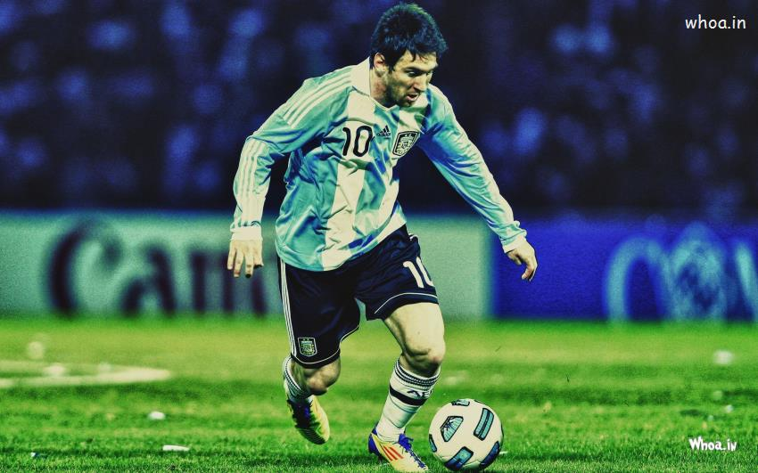 3d Video Wallpaper Player Lionel Messi Kick Football Hd Argentina Football Player