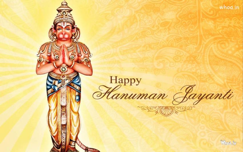 Animated Navratri Wallpapers Lord Hanuman Jayanti With Standing Statue Hd Wallpaper