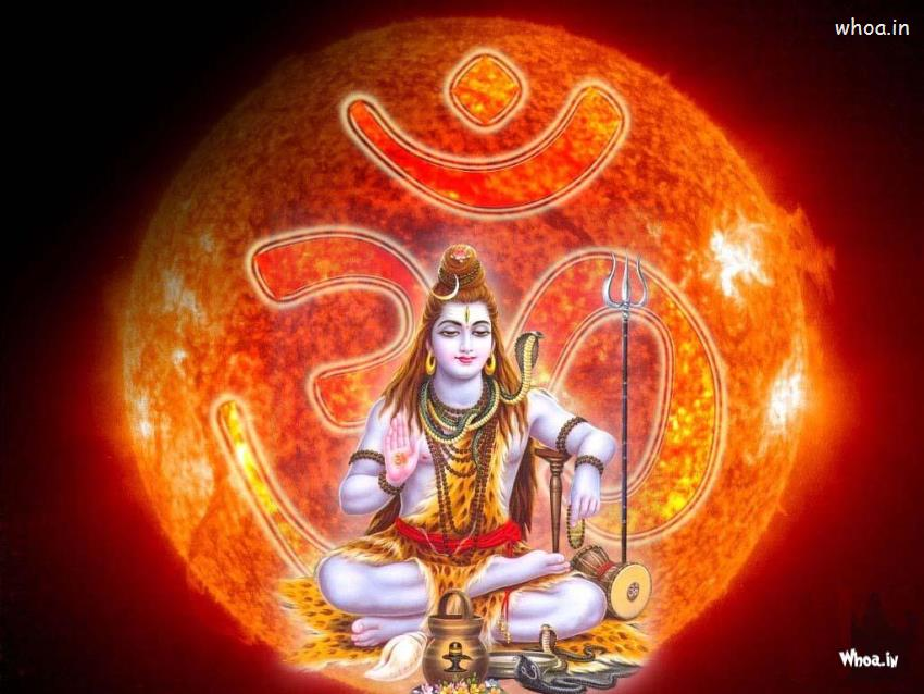 Lord Shiva Animated Wallpapers For Mobile Lord Shiva Samadhi With Om Background Hd Wallpaper