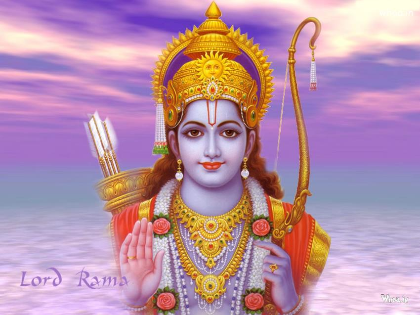 God Krishna Hd 3d Wallpaper Lord Shri Ram With Natural Background Hd Wallpaper