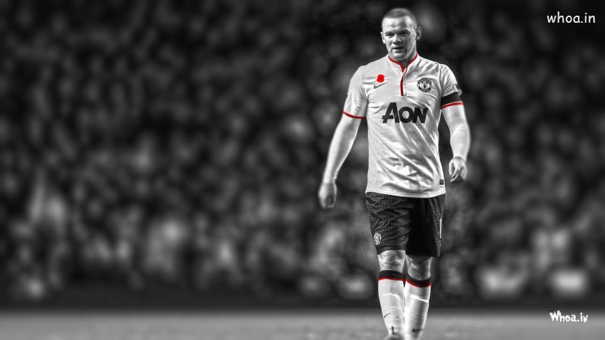 Shivaji Wallpaper 3d Manchester Of United Wayne Rooney Black And White Hd Wallpaper