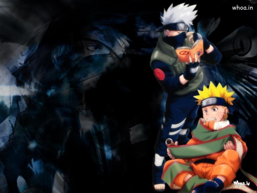 Naruto Team 7 Wallpaper Cute Naruto With Kakashi Cartoon Fun Hd Wallpaper