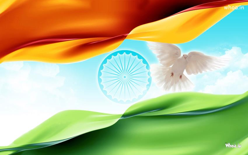 Indian Republic Day Quotes Wallpapers National Flag With Ashok Chakra Hd Wallpaper