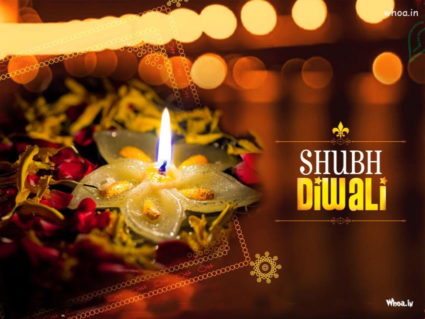 shubh diwali with diya