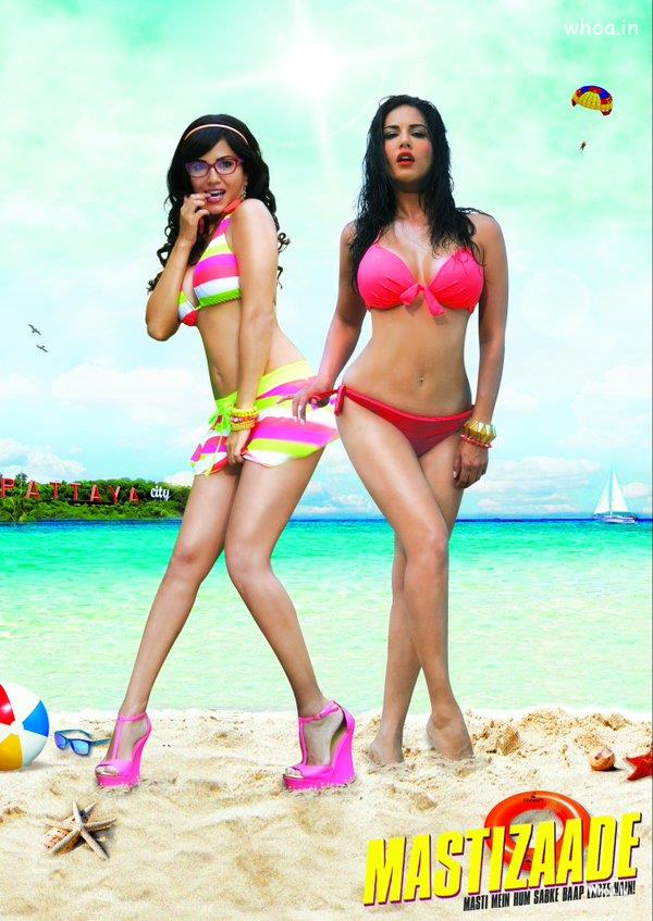Cute Downloadable Wallpapers Sunny Leone In Mastizaade 2015 Movie Poster