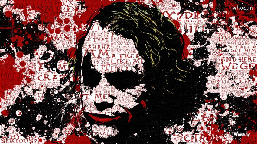 Cute Baby Holi Wallpaper The Joker The Dark Knight With Quotes Hd Hand Painting