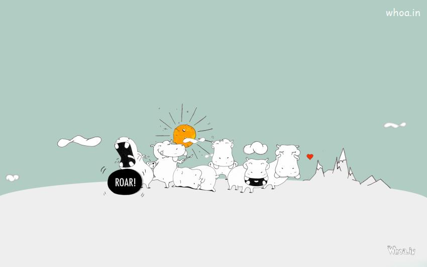 Happy Diwali Hd Wallpaper With Quotes White Funny Cheerleader Hippo Cartoon Hd Wallpaper