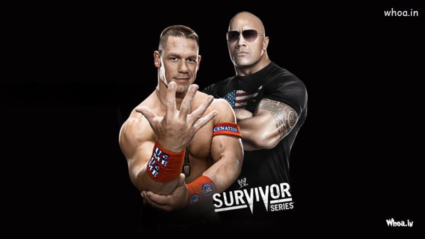 Wrestler John Cena And The Rock Survivor Series HD WWE Wallpaper
