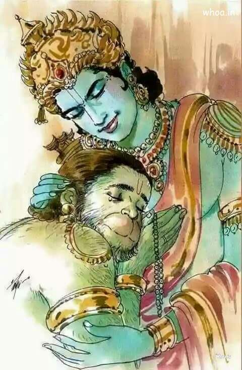 Cute Happy Teachers Day Wallpaper The Beautiful Image Of Lord Shri Ram And Hanuman Milan