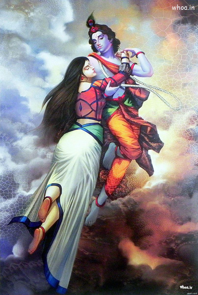 Lord Vishnu Animated Wallpapers The Hd Image Of Lord Krishna And Radha In The Bramhand