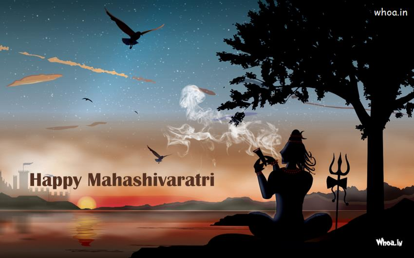 Shiva Smoking Chillum Hd Wallpaper Wallpaper Of Lord Shiva With Smoking Hukka Maha Shivaratri