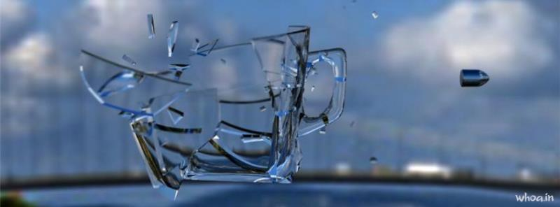 Cute Good Night Wallpapers Broken Glass Slow Motion Art Facebook Cover 1