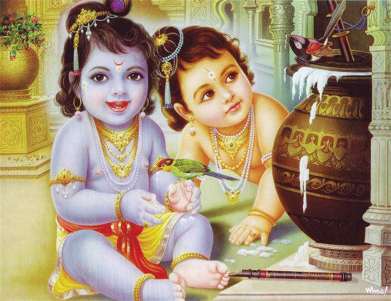 Cute Bal Ganesh Wallpaper Bal Krishna 7 Lord Bal Krishna Wallpaper
