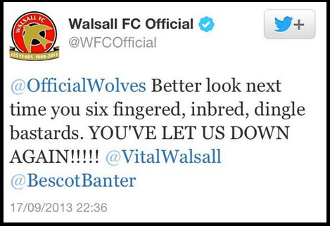 walsall forced to apologise