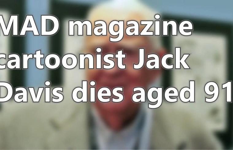MAD magazine cartoonist Jack Davis dies aged 91   Short News 1