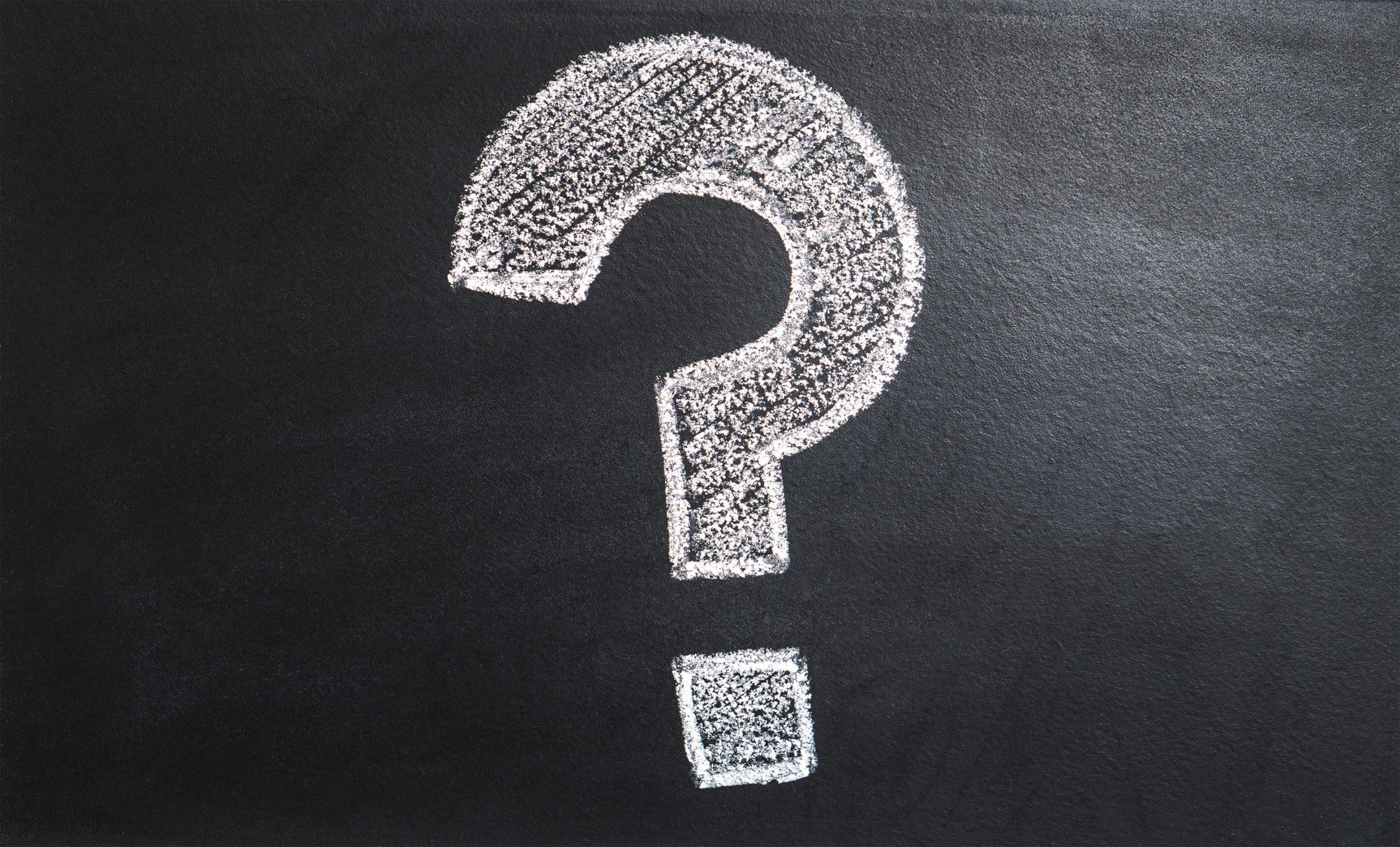 Chalk Board Question Mark