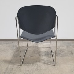 Allsteel Office Chair Blue Patterned Accent Ariel Stacking Furniture Chicago