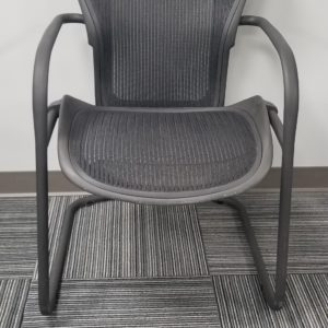 herman miller used office chairs wedding chair sash aeron chicago furniture visitor
