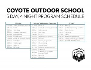Sample Schedule & Activities
