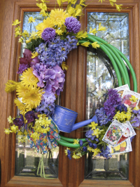 DIY Spring Garden Hose Wreath Tutorial {and Giveaway