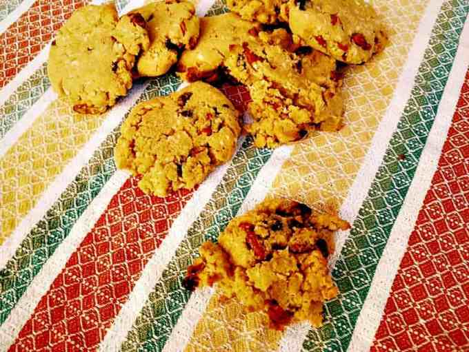 Triple Coconut Chocolate Chip Goji Berry Cookies