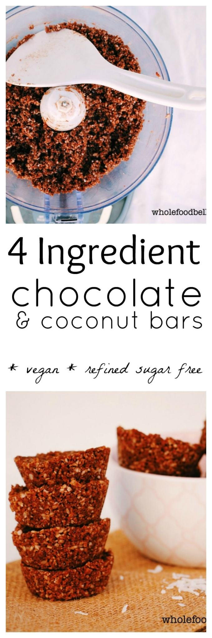 Chocolate Coconut Roughs: crumble them on ice cream or oats or pop them in the blender with some milk for a sweet drink. 4 ingredients and 5 minutes prep.