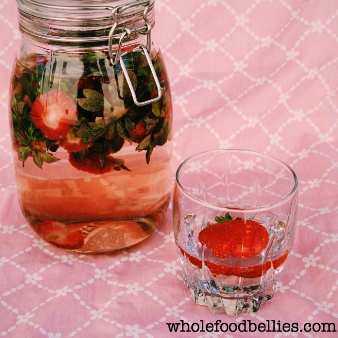 Strawberry Tip Water @wholefoodbellies.com