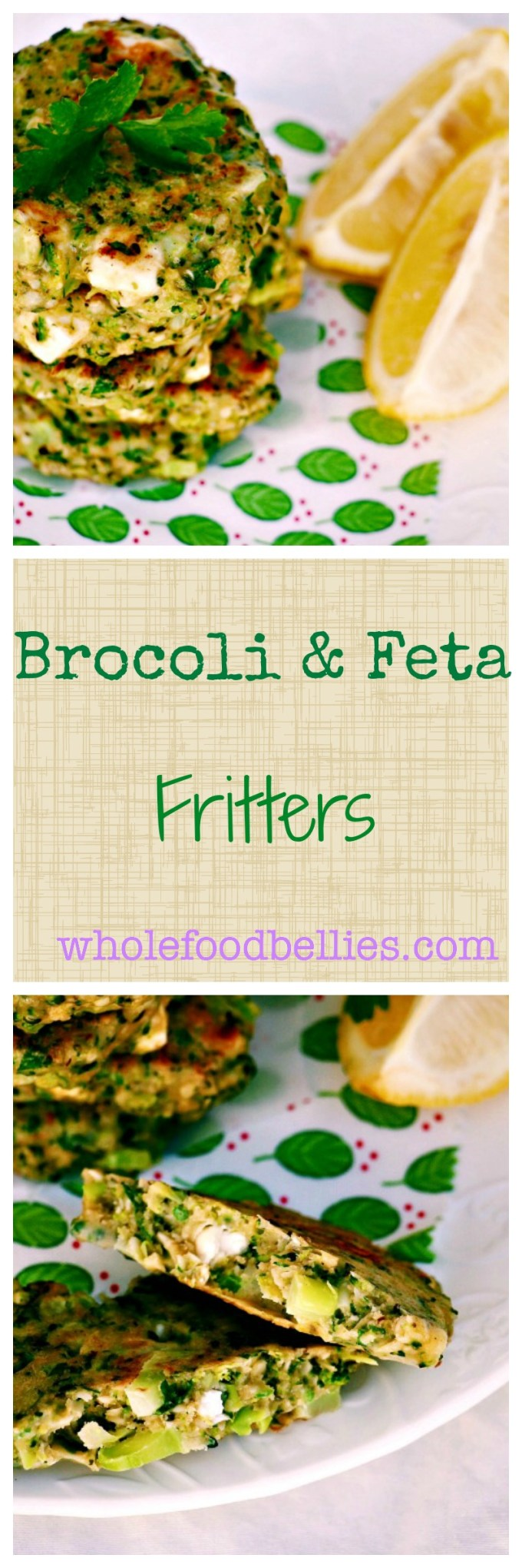 Broccoli and Feta Fritters are a great way to get some extra veg in during snack time. Kids and adults alike will love them