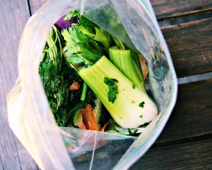 Big bag of frozen veggie scraps!