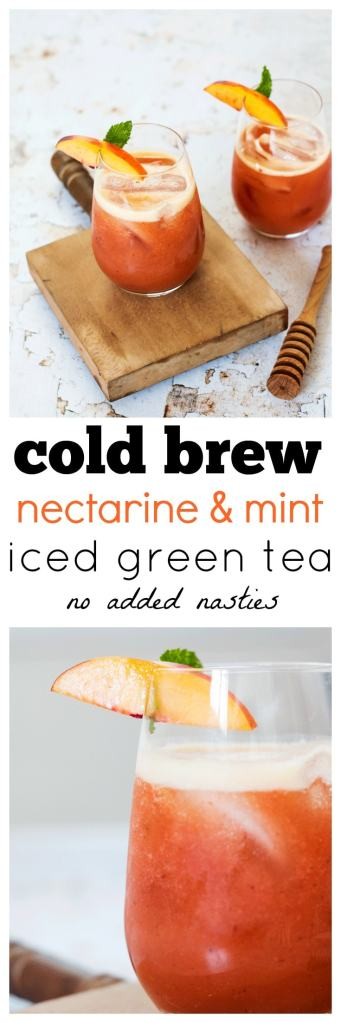 Cold Brew Nectarine and Mint Iced Tea Recipe