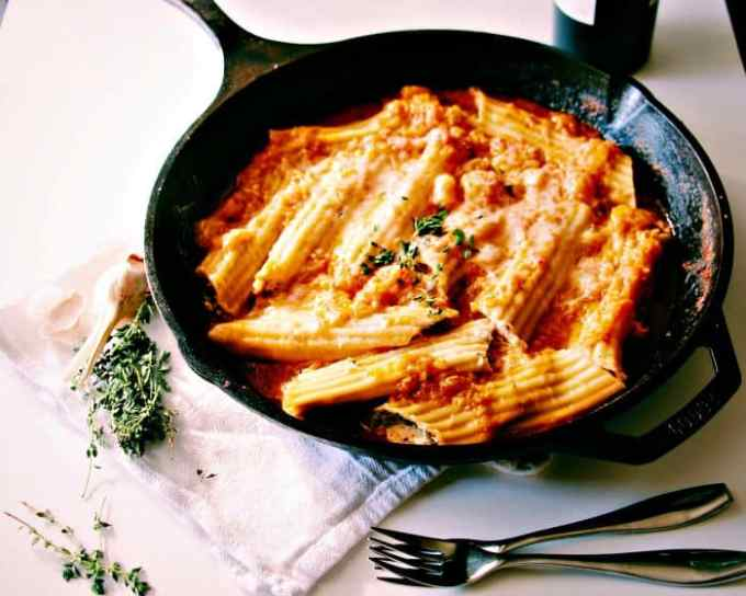 Mushroom and Herbed Ricotta Cannelloni