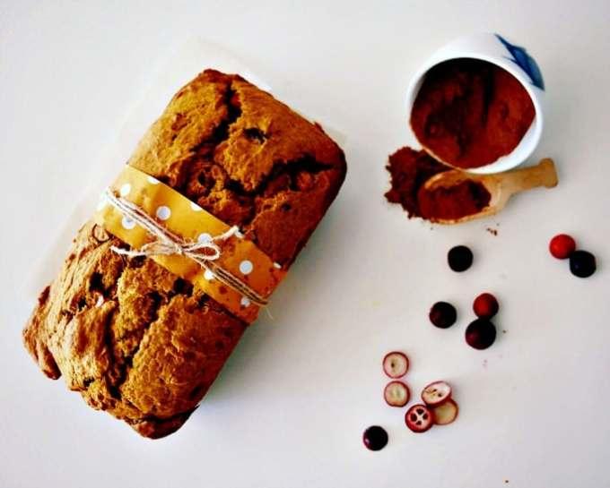 Pumpkin and Fresh Cranberry Bread