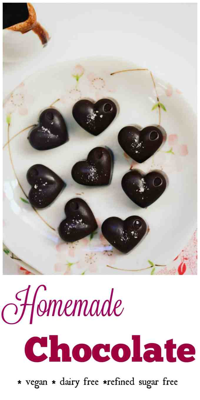 Homemade Clean Eating Chocolates. Surprise someone special with delicious chocolates made from hand. Only 3 ingredients and no refined sugar