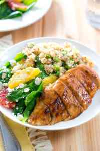 Meal plan. Balsamic Glazed Chicken with Citrus Salad and Quinoa