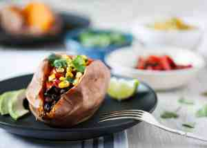 Meal plan. Mexican Inspired Stuffed Sweet Potatoes