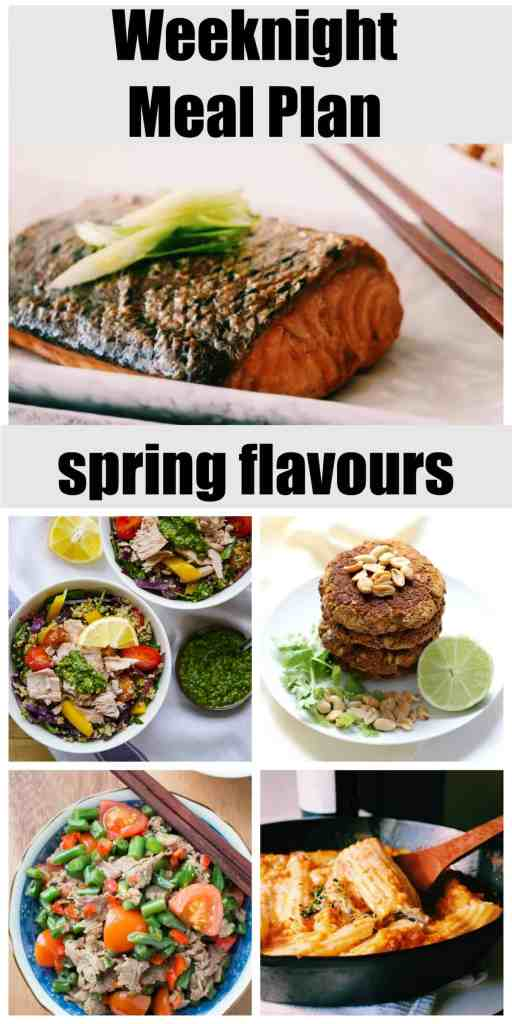 Spring Meal Planning for weeknights