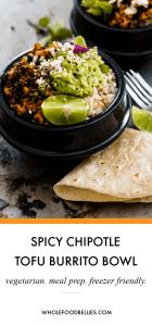 Spicy chipotle burrito bowl