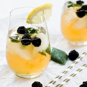 Basil and Blackberry Iced Green Tea
