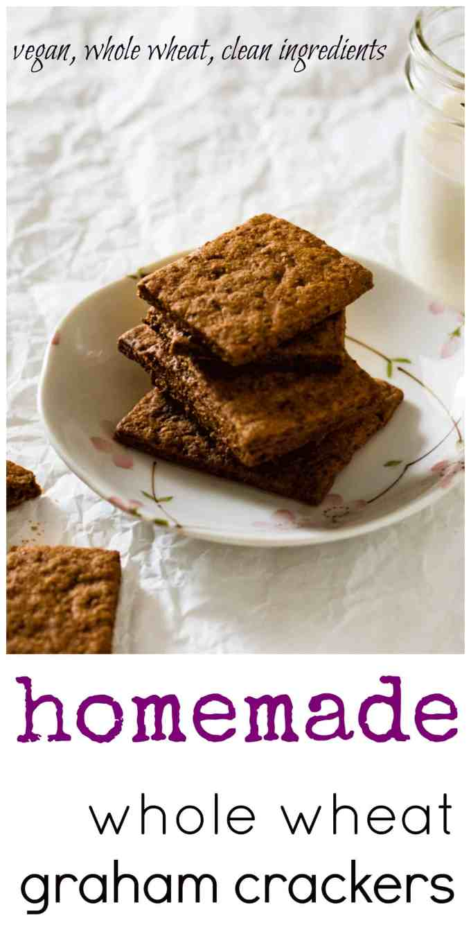 Homemade Cinnamon Whole Wheat Graham Cracker. A delicious and crunchy treat the whole family will love
