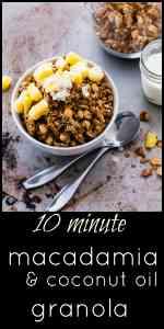 Super Easy Homemade Granola with Macadamia and Coconut Oil